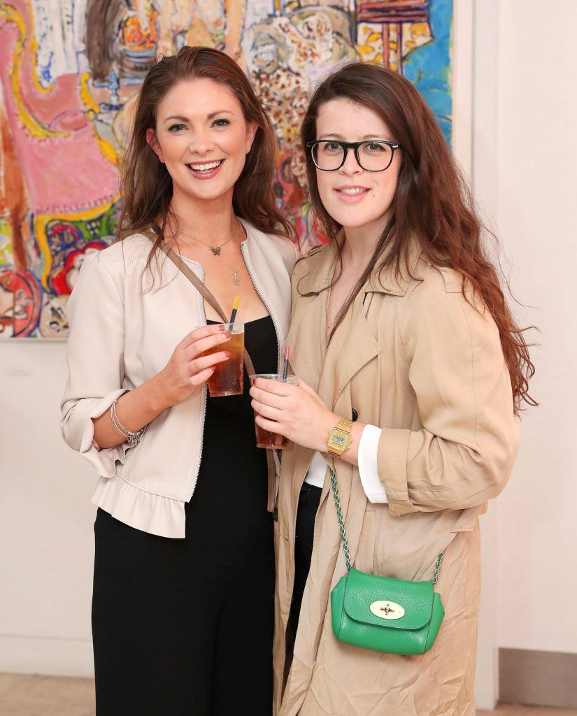 Grainne Meagher and Rebecca Bell at the RHA Hennessy Lost Friday (7th July), a night showcasing Ireland's most cutting edge and dynamic artists, musicians, and creatives. Pic: Marc O'Sullivan