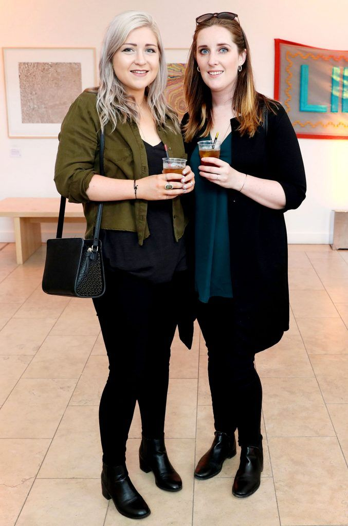 Catherine Smith and Clare Kilty at the RHA Hennessy Lost Friday (7th July), a night showcasing Ireland's most cutting edge and dynamic artists, musicians, and creatives. Pic: Marc O'Sullivan