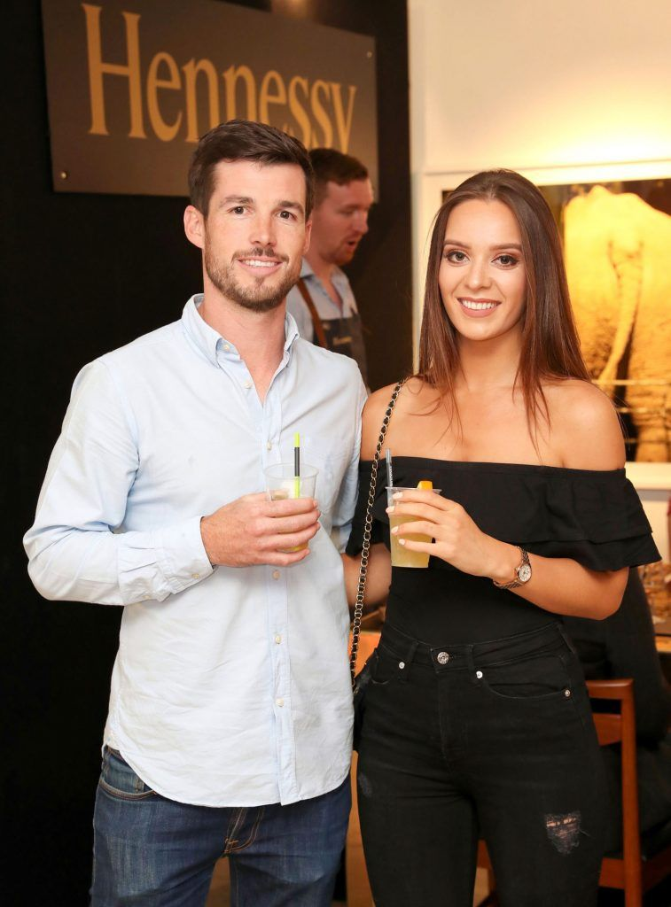 Conor Lyons and Jessica O'Sullivan at the RHA Hennessy Lost Friday (7th July), a night showcasing Ireland's most cutting edge and dynamic artists, musicians, and creatives. Pic: Marc O'Sullivan