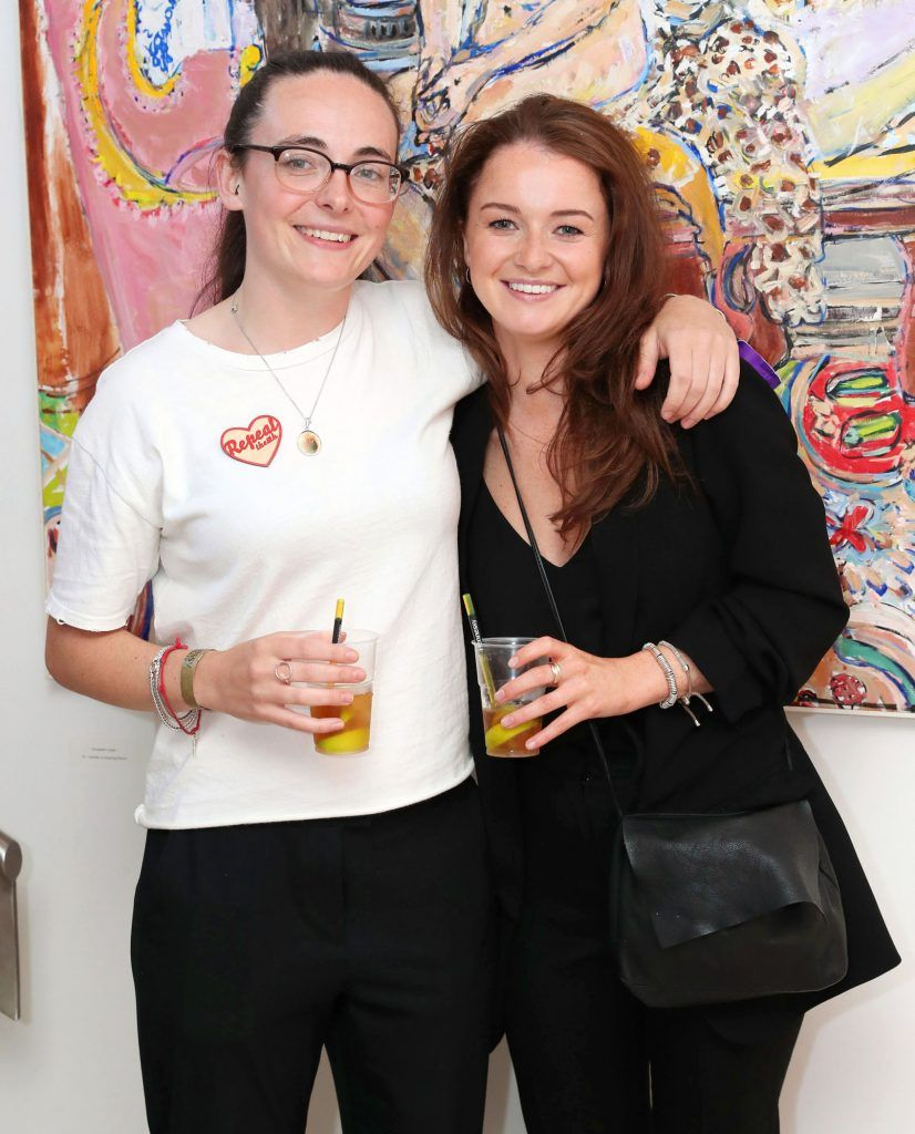 Lucy Whitaker and Hannah Vard Ryan at the RHA Hennessy Lost Friday (7th July), a night showcasing Ireland's most cutting edge and dynamic artists, musicians, and creatives. Pic: Marc O'Sullivan
