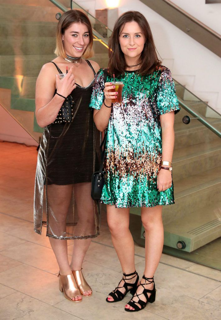 Camilla Sullivan and Etain Butler at the RHA Hennessy Lost Friday (7th July), a night showcasing Ireland's most cutting edge and dynamic artists, musicians, and creatives. Pic: Marc O'Sullivan
