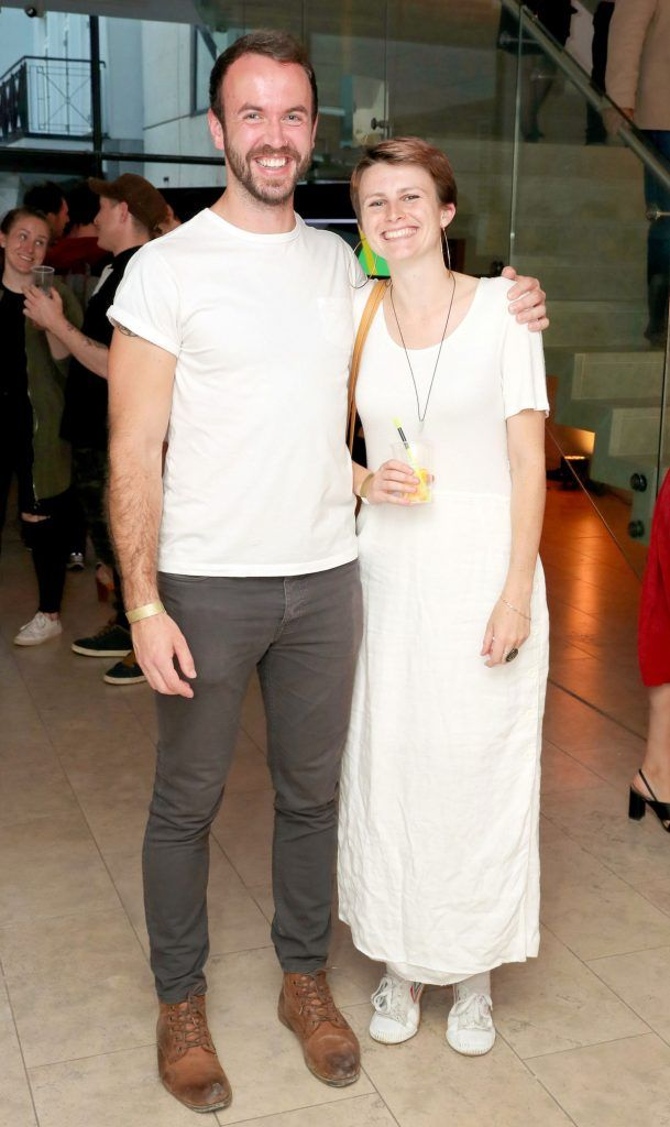 Fergal Dunne and Heather Gray at the RHA Hennessy Lost Friday (7th July), a night showcasing Ireland's most cutting edge and dynamic artists, musicians, and creatives. Pic: Marc O'Sullivan