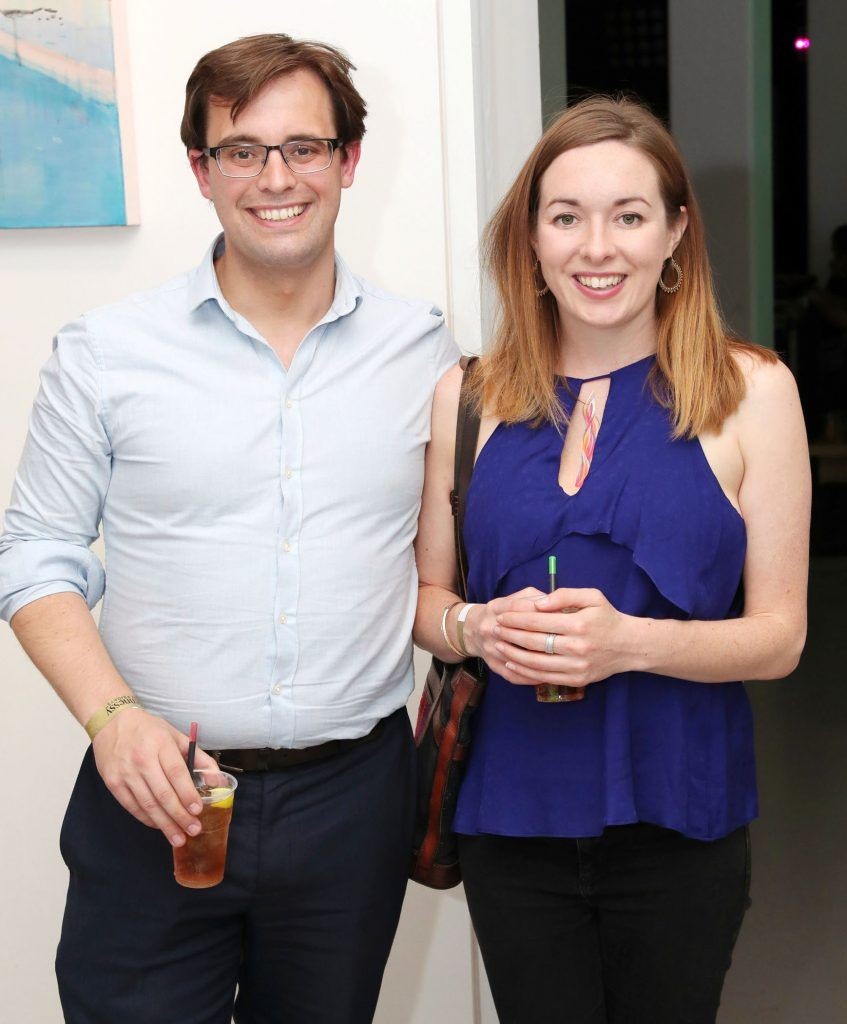 Neil Gannon and Niamh Ni Shuillabhain at the RHA Hennessy Lost Friday (7th July), a night showcasing Ireland's most cutting edge and dynamic artists, musicians, and creatives. Pic: Marc O'Sullivan