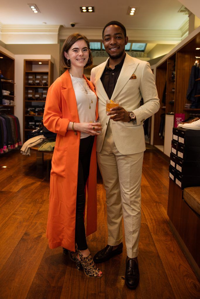 Pictured at the Powers Irish Whiskey event at Louis Copeland were Lesley Goulding & Lawson Mpame. Photo by Dublin Daily Photography