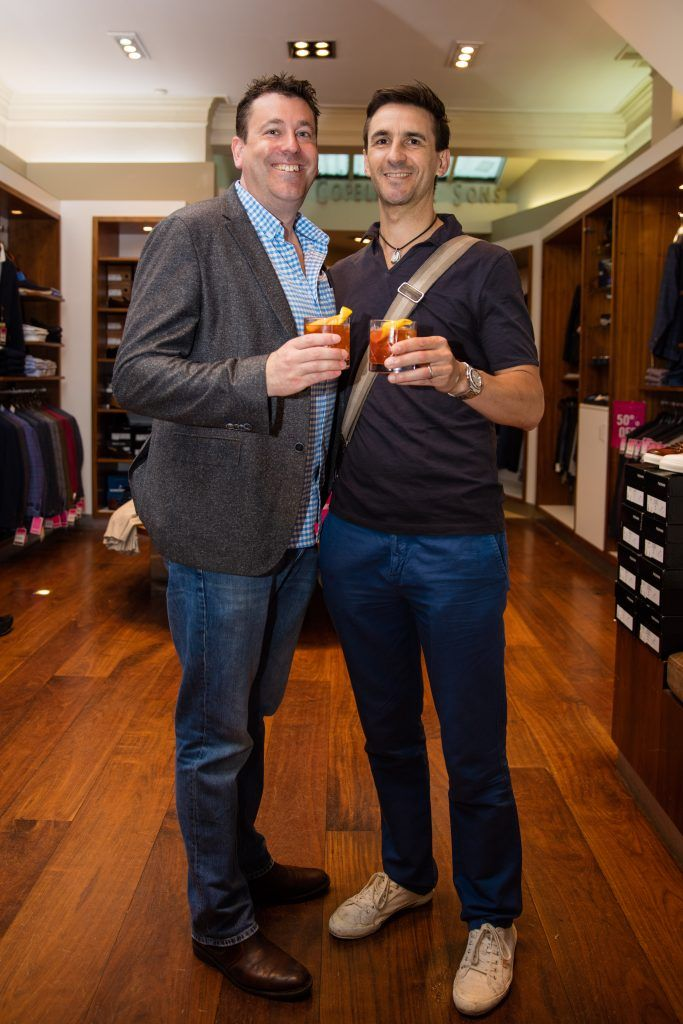 Pictured at the Powers Irish Whiskey Event in Louis Copeland, Wicklow Street were Jim Reddy & Jerome Fernandes. Photo by Dublin Daily Photography