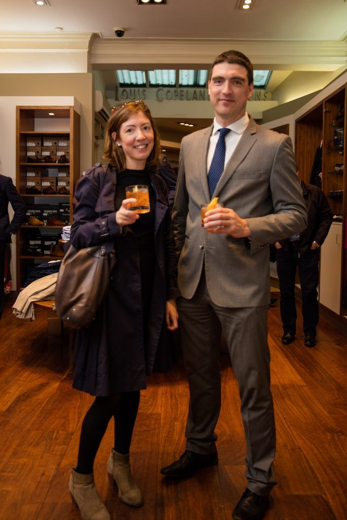 Pictured at the Powers Irish Whiskey event at Louis Copeland Wicklow Street were Joanne O'Donohue & John O'Donohue. Photo by Dublin Daily Photography