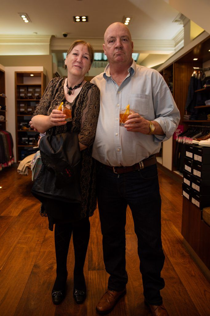Pictured at the Powers Irish Whiskey Event in Louis Copeland, Wicklow Street were John Hanley & Margaret Doyle Hanley. Photo by Dublin Daily Photography
