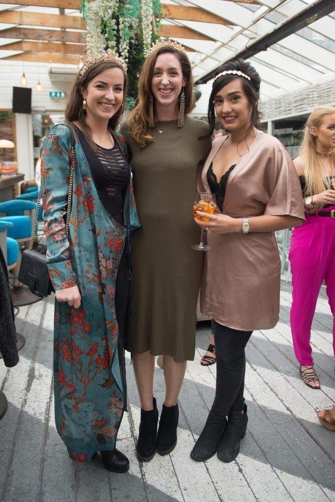 Katie Sullivan, Briona O'Doherty & Caoimhe O'Shea at the launch of Taylor & Rose, a hair couture accessories brand by Irish bloggerand stylist Ciara O'Doherty. Photographed in House, Dublin by Ruth Medjber // Ruthless Imagery