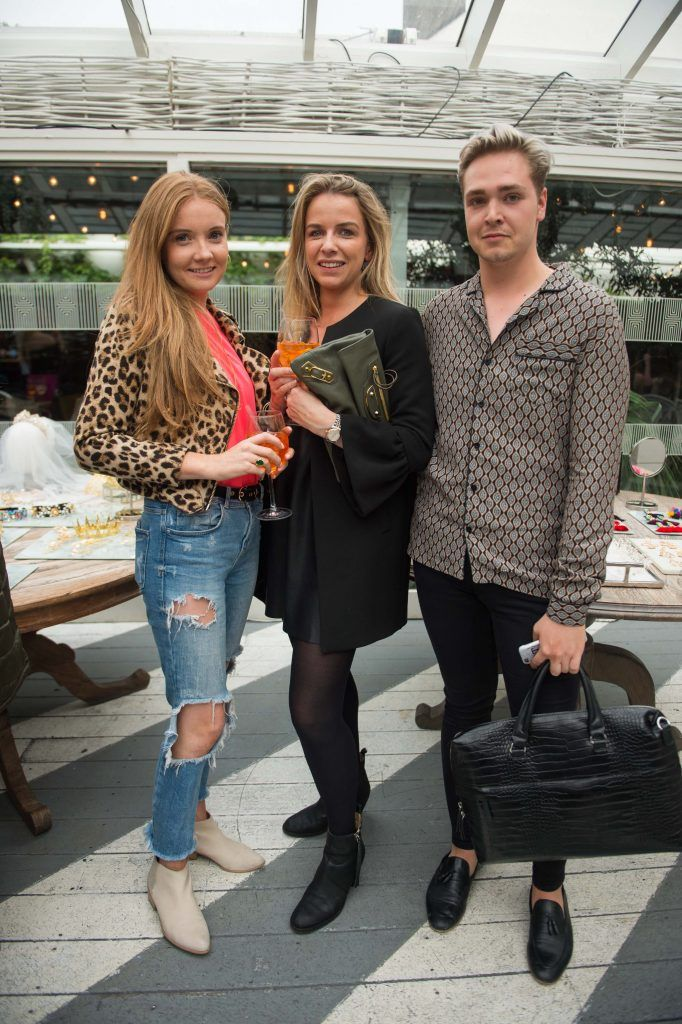 Laura Jordan, Lucinda Andrews and Ryan O'Neill at the launch of Taylor & Rose, a hair couture accessories brand by Irish bloggerand stylist Ciara O'Doherty. Photographed in House, Dublin by Ruth Medjber // Ruthless Imagery
