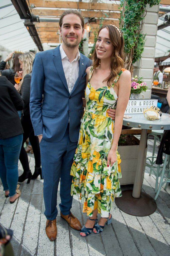 Joseph Sheridan and Ciara O'Doherty at the launch of Taylor & Rose, a hair couture accessories brand by Irish bloggerand stylist Ciara O'Doherty. Photographed in House, Dublin by Ruth Medjber // Ruthless Imagery