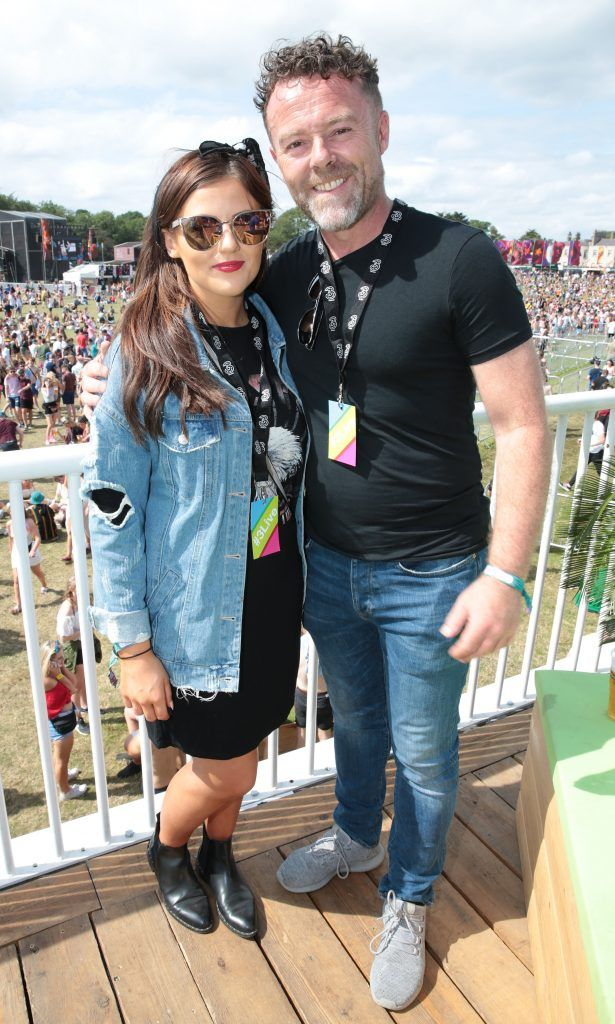 Eric Lalor and Jodi Maher Andrea Sheridan and Darren Kennedy at the 3Live experience at Longitude in Marlay Park, Dublin (15th July 2017). Picture by Brian McEvoy