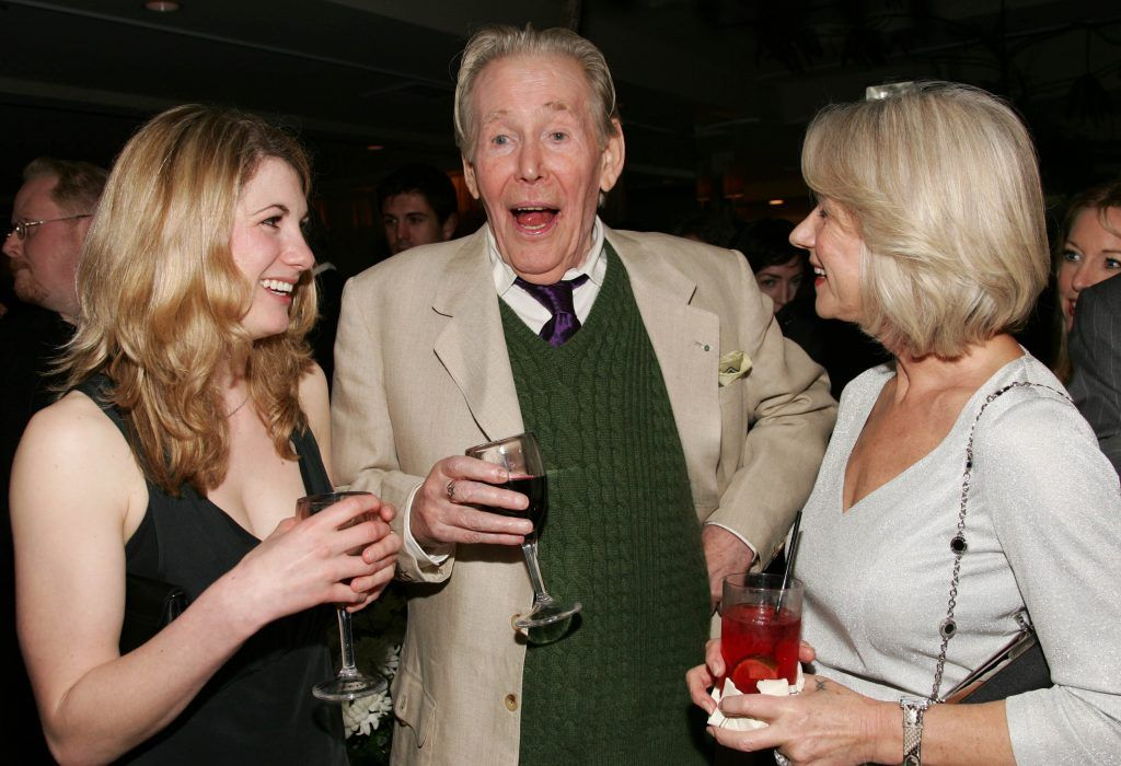 """Jodie Whittaker, Peter O'Toole and Helen Mirren attend the Miramax Films pre-Oscar party for the films """"The Queen"""" and """"Venus"""" co-hosted Jo Malone London held at the Sunset Tower Hotel on February 22, 2007 in West Hollywood, California.  (Photo by Evan Agostini/Getty Images)"""