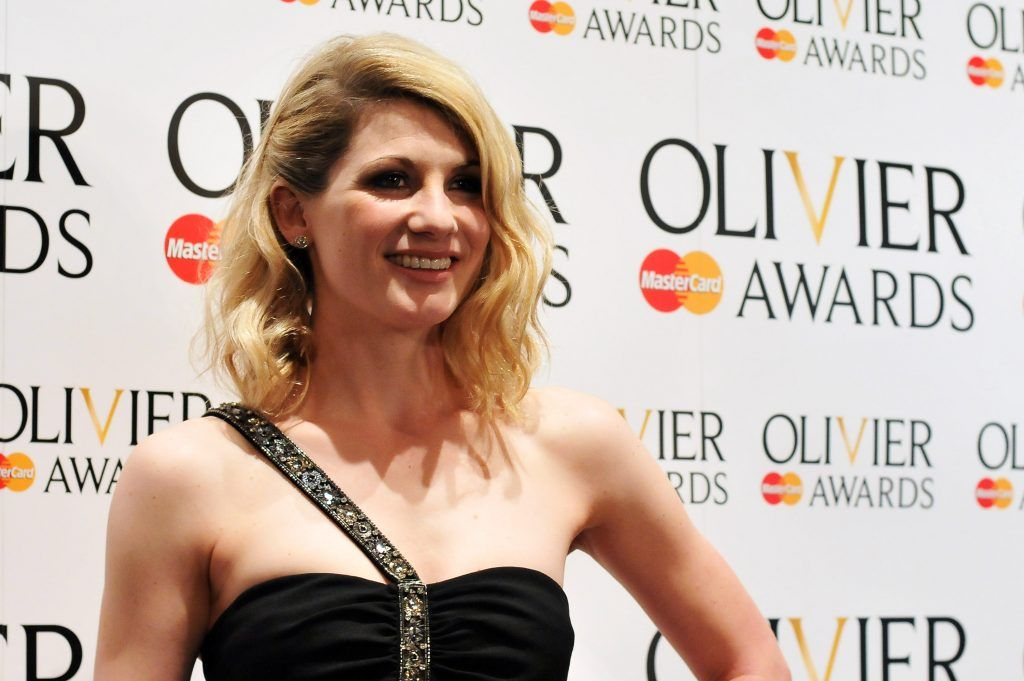 Jodie Whittaker poses in the press room during the 2012 Olivier Awards at The Royal Opera House on April 15, 2012 in London, England.  (Photo by Ben Pruchnie/Getty Images)