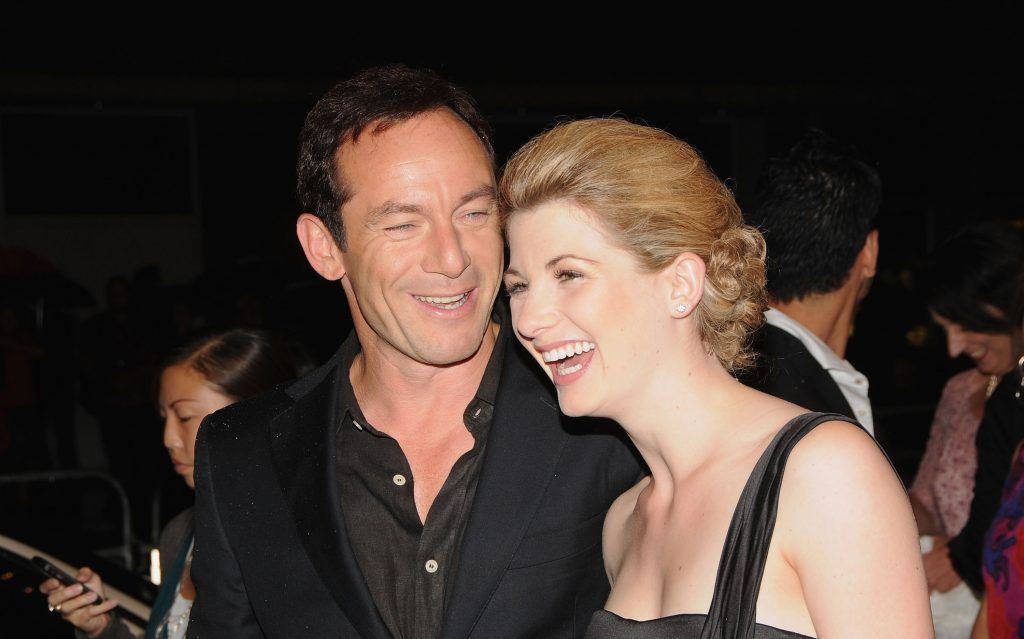 "Jason Isaacs (L) and Jodie Whittaker arrives at the ""Good"" premiere during the 2008 Toronto International Film Festival held at the Winter Garden Theatreon September 8, 2008 in Toronto, Canada.  (Photo by C.J. LaFrance/Getty Images)"