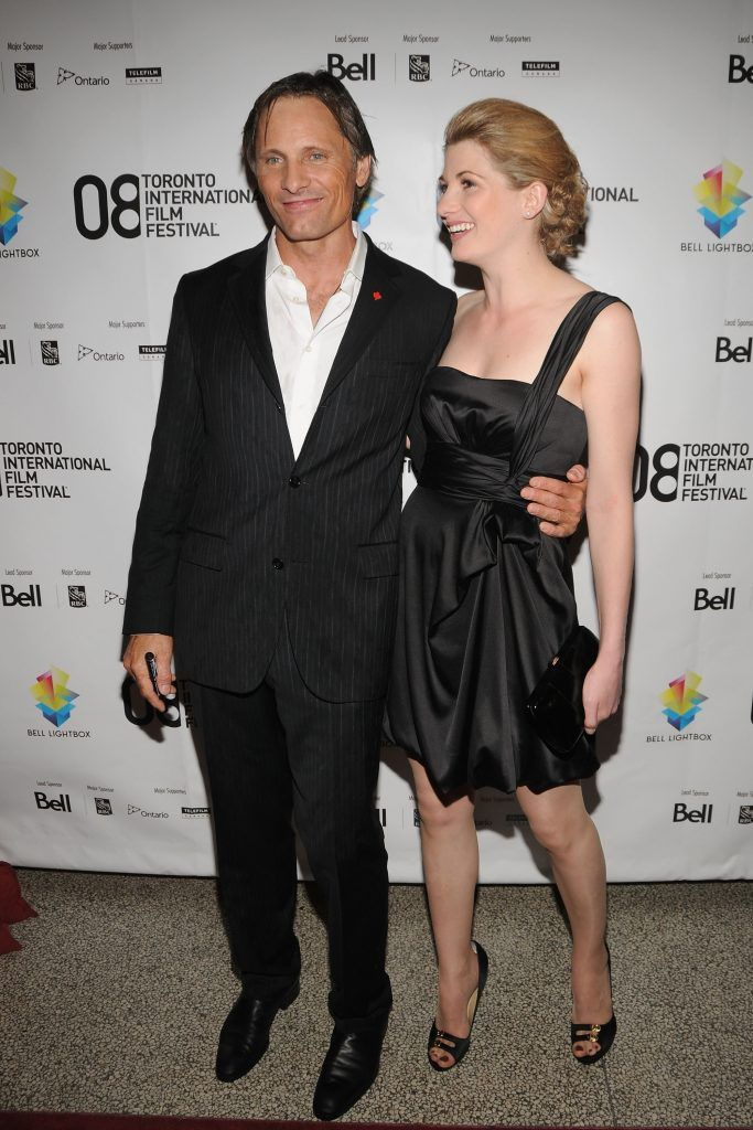 """Viggo Mortensen and Jodie Whittaker arrives at the """"Good"""" premiere during the 2008 Toronto International Film Festival held at the Winter Garden Theatreon September 8, 2008 in Toronto, Canada.  (Photo by C.J. LaFrance/Getty Images)"""