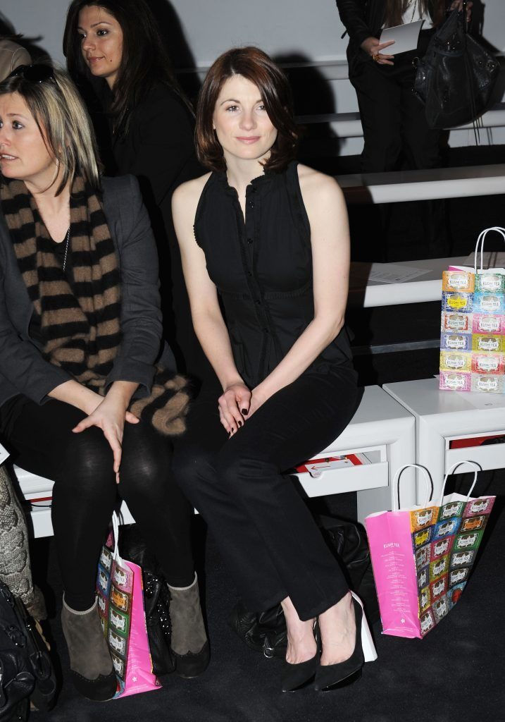 Jodie Whittaker attends the Emilio de la Morena show during London Fashion Week Fall/Winter 2013/14 at Somerset House on February 19, 2013 in London, England.  (Photo by Stuart Wilson/Getty Images)