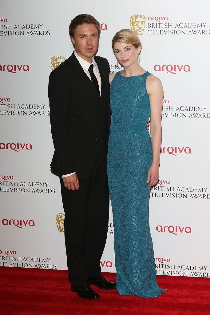 Andrew Buchan and Jodie Whittaker pose in the press room at the Arqiva British Academy Television Awards 2013 at the Royal Festival Hall on May 12, 2013 in London, England.  (Photo by Tim P. Whitby/Getty Images)