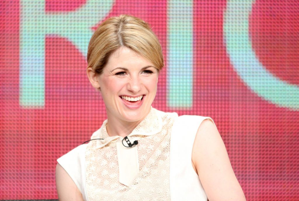 """Jodie Whittaker speaks onstage at the """"Broadchurch"""" panel discussion during the BBC America portion of the 2013 Summer Television Critics Association tour. (Photo by Frederick M. Brown/Getty Images)"""
