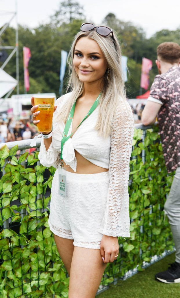 Michelle Kinsella pictured at the Heineken 'Live Your Music' area, a new music experience that the crowd can control, at Longitude Festival 2017, Marlay Park. Picture by Andres Poveda