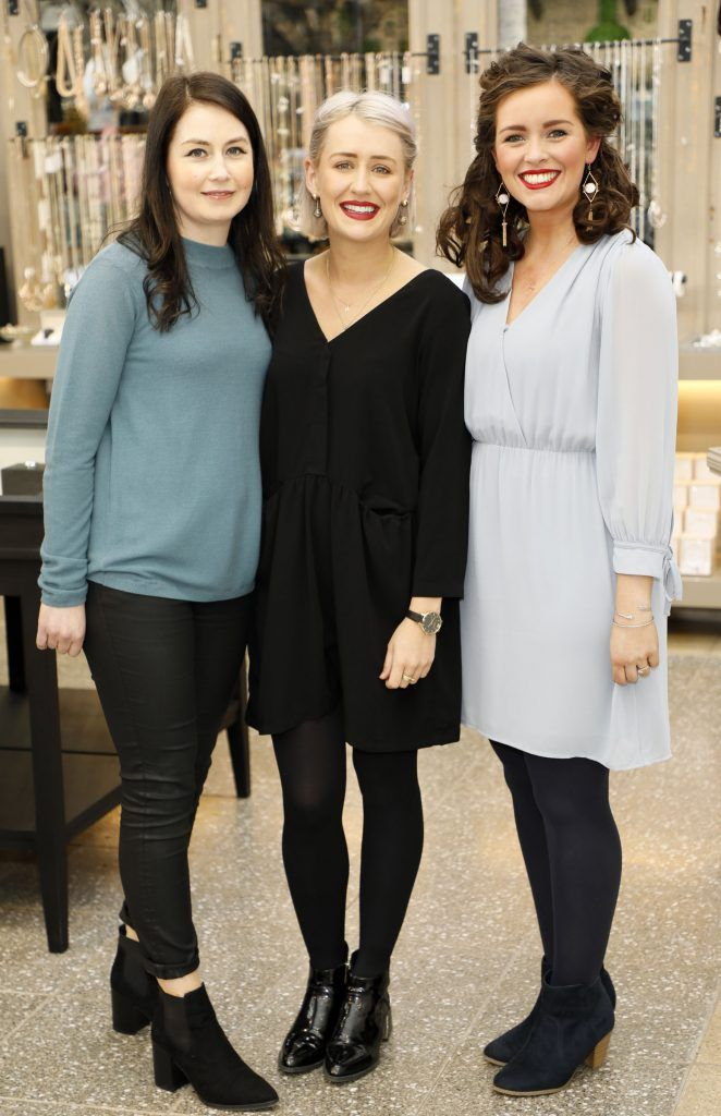 Michelle Carton, Hannah Whelan and Lynn Foran at the exclusive launch of AVOCA Dunboyne in the beautiful surrounds of the brand-new store on Tuesday 4th April. The event was attended by key lifestyle media, social influencers and stylists-photo Kieran Harnett