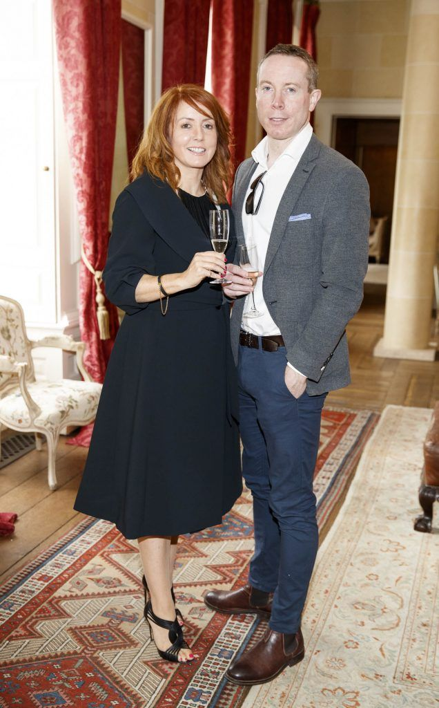 Ciara and Brendan Burke pictured at an exclusive lunch event at Carton House ahead of the Carton House Most Stylish Lady competition at the Irish Grand National Fairyhouse. Picture Andres Poveda