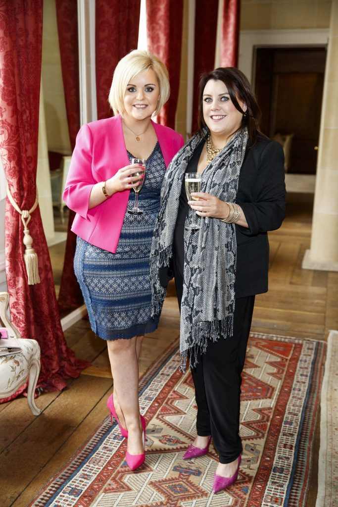 Ruth Kenny and Julie-Ann Kavanagh pictured at an exclusive lunch event at Carton House ahead of the Carton House Most Stylish Lady competition at the Irish Grand National Fairyhouse. Picture Andres Poveda