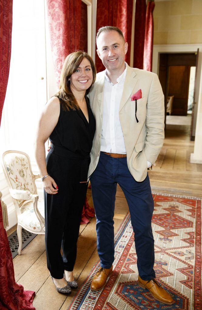 Brenda and Sam Johnston pictured at an exclusive lunch event at Carton House ahead of the Carton House Most Stylish Lady competition at the Irish Grand National Fairyhouse. Picture Andres Poveda