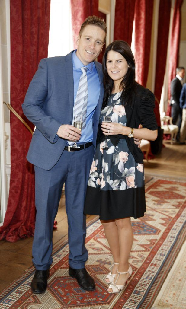Michael and Amy Tumilty pictured at an exclusive lunch event at Carton House ahead of the Carton House Most Stylish Lady competition at the Irish Grand National Fairyhouse. Picture Andres Poveda