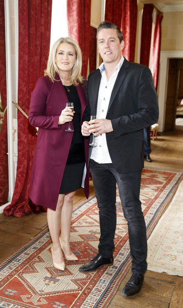 Elaine and Colin O'Reilly pictured at an exclusive lunch event at Carton House ahead of the Carton House Most Stylish Lady competition at the Irish Grand National Fairyhouse.Picture Andres Poveda