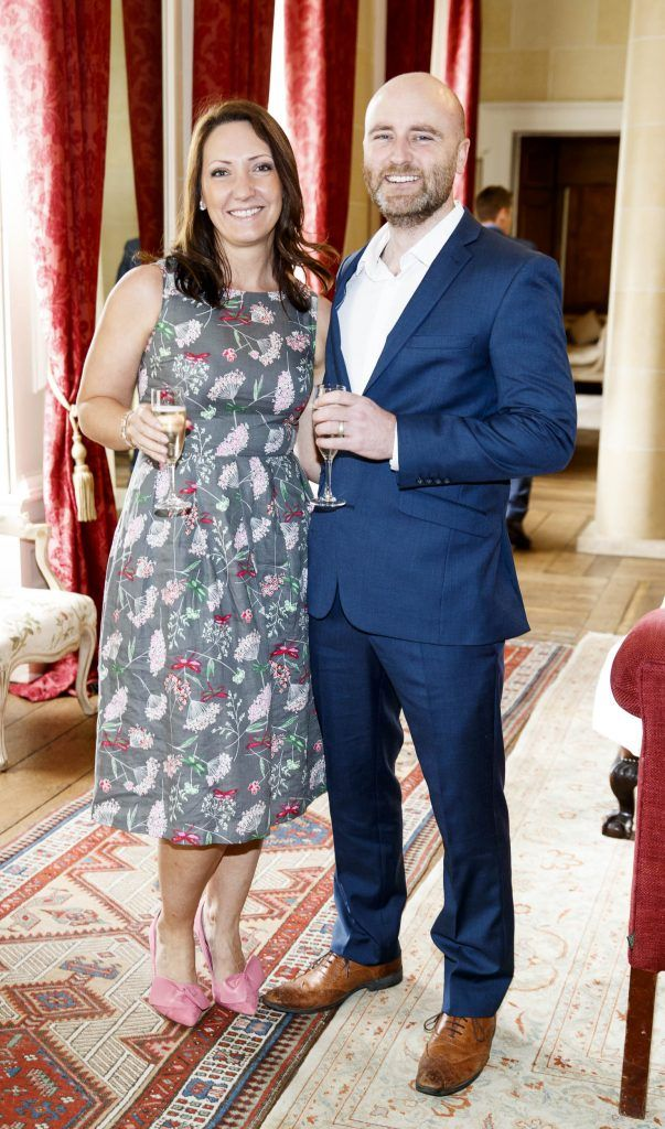 Liz and Milo McGuinness pictured at an exclusive lunch event at Carton House ahead of the Carton House Most Stylish Lady competition at the Irish Grand National Fairyhouse. Picture Andres Poveda