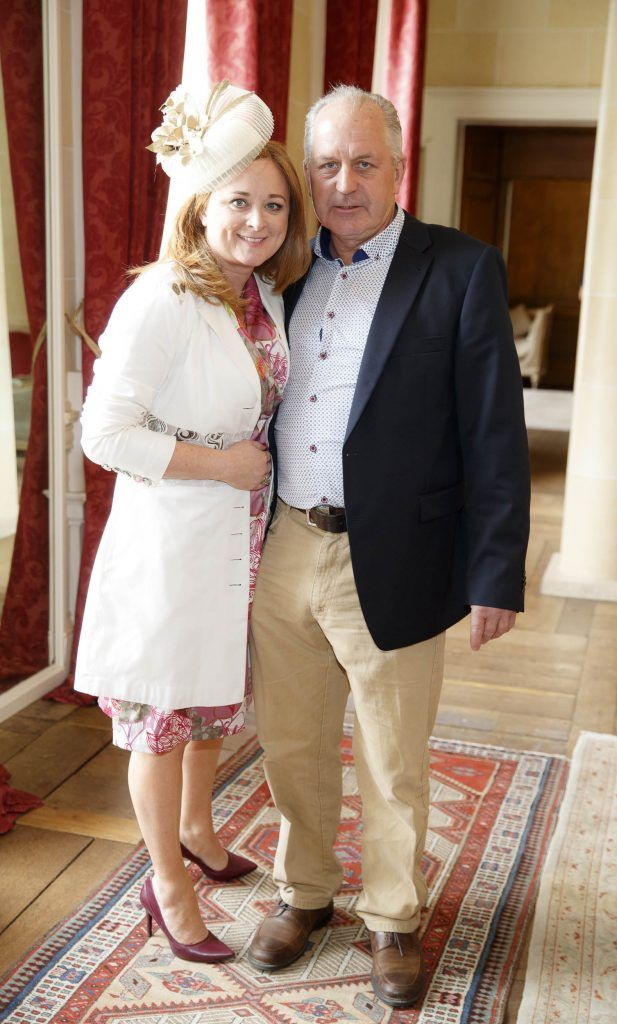 Monica O'Byrne and Liam Nevin pictured at an exclusive lunch event at Carton House ahead of the Carton House Most Stylish Lady competition at the Irish Grand National Fairyhouse. Picture Andres Poveda
