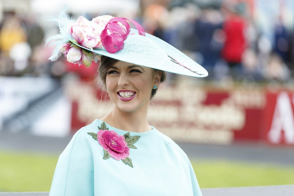Mary Curry from Armagh pictured at the Carton House Most Stylish Lady competition at the Irish Grand National Fairyhouse. Picture Andres Poveda