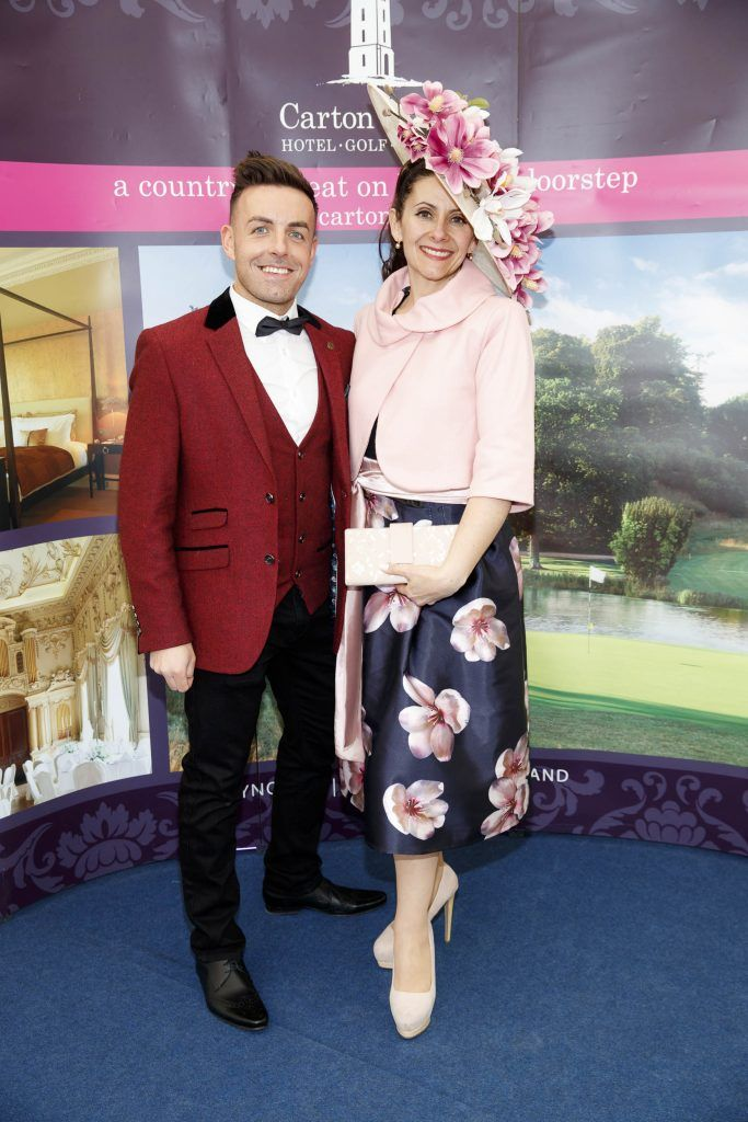 Stuart Montgomery and Ana-Victoria pictured at the Carton House Most Stylish Lady competition at the Irish Grand National Fairyhouse. Picture Andres Poveda