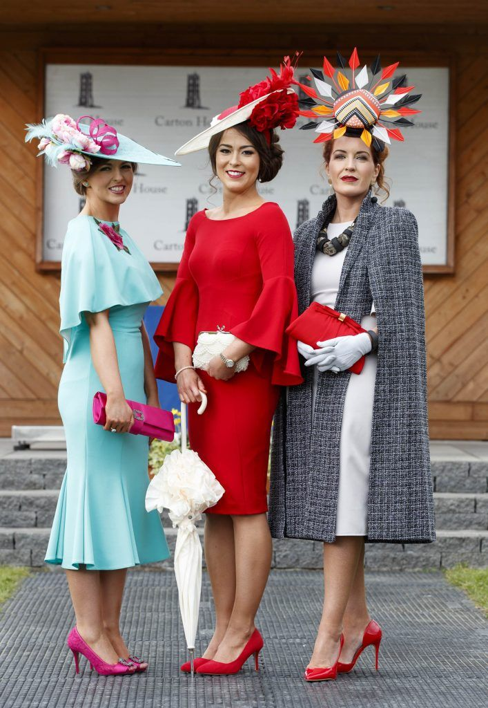 Stylish Laura Elliott from Belfast took home the coveted title of Carton House Most Stylish Lady standing out from the crowd in her Red Dress from Coast and Jenny Packham bag.  Picture Andres Poveda
