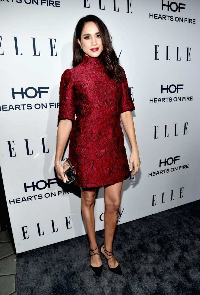 Meghan Markle attends ELLE's 6th Annual Women In Television Dinner at Sunset Tower Hotel on January 20, 2016 in West Hollywood, California.  (Photo by Alberto E. Rodriguez/Getty Images for ELLE)