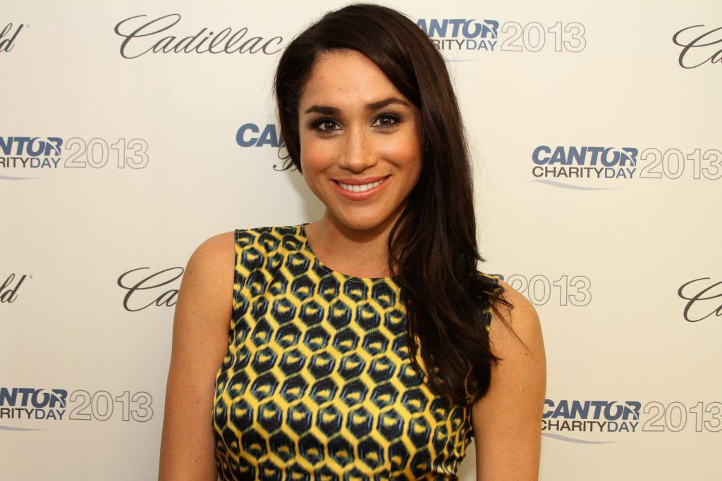 Meghan Markle attends the Annual Charity Day Hosted By Cantor Fitzgerald And BGC at the Cantor Fitzgerald Office on September 11, 2013 in New York, United States.  (Photo by Mike McGregor/Getty Images for Cantor Fitzgerald)