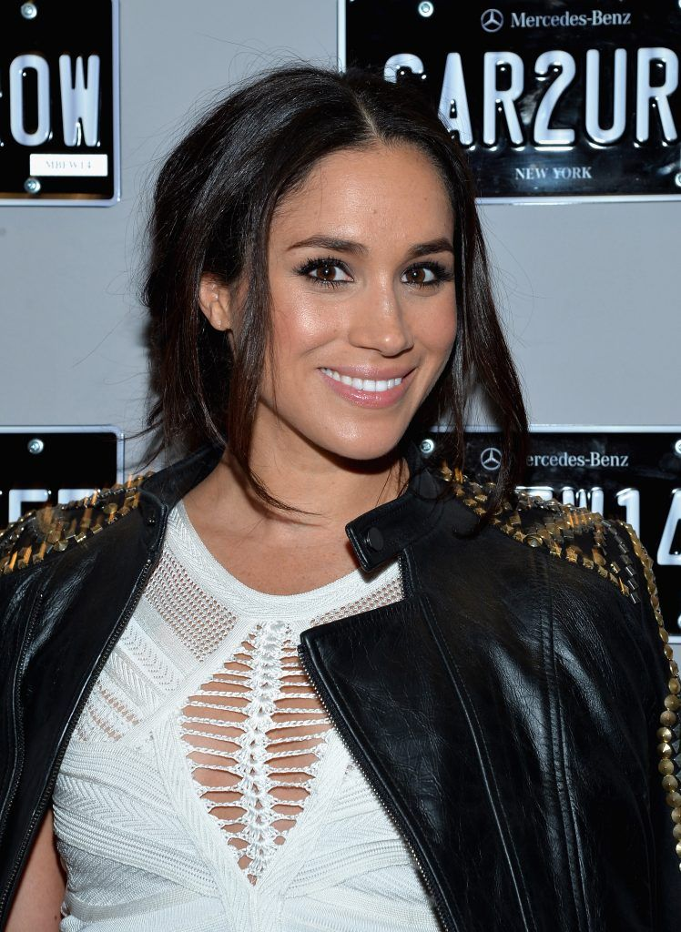 Meghan Markle attends the Mercedes-Benz Star Lounge during Mercedes-Benz Fashion Week Fall 2014 at Lincoln Center on February 8, 2014 in New York City.  (Photo by Mike Coppola/Getty Images for Mercedes-Benz)