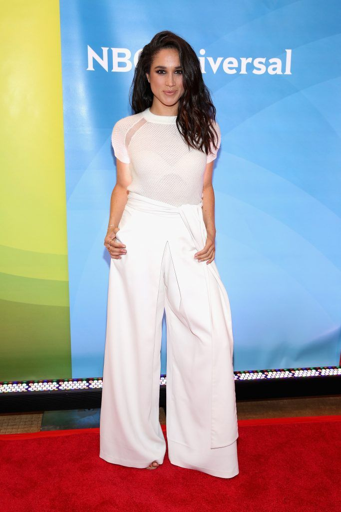 Meghan Markle attends the NBC's 2015 New York Summer Press Day at Four Seasons Hotel New York on June 24, 2015 in New York City.  (Photo by Robin Marchant/Getty Images)