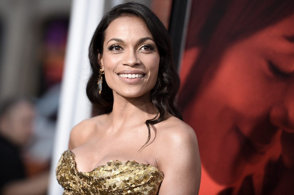 "Rosario Dawson attends the premiere of the dramatic thriller ""Unforgettable"" at the TCL Chinese Theater in Hollywood, California, on April 18, 2017.  (Photo by RICHARD SHOTWELL/AFP/Getty Images)"