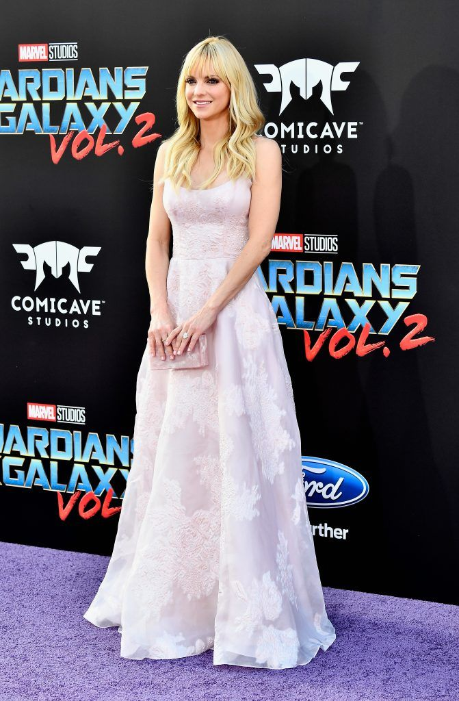 "Actress Anna Faris arrives at the premiere of Disney and Marvel's ""Guardians Of The Galaxy Vol. 2"" at Dolby Theatre on April 19, 2017 in Hollywood, California.  (Photo by Frazer Harrison/Getty Images)"