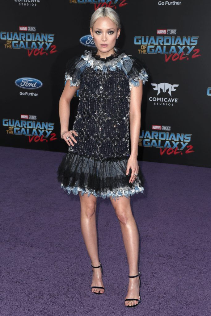 "Actor Pom Klementieff at the premiere of Disney and Marvel's ""Guardians Of The Galaxy Vol. 2"" at Dolby Theatre on April 19, 2017 in Hollywood, California.  (Photo by Frederick M. Brown/Getty Images)"