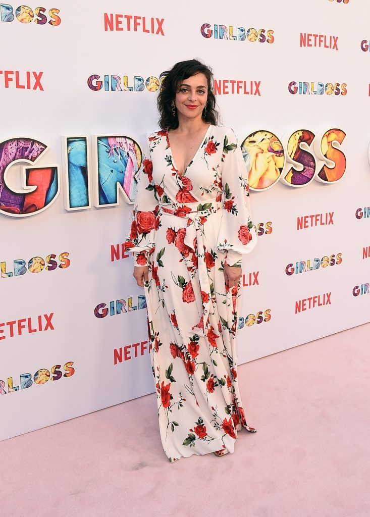 "Irene Marquette attends the premiere of Netflix's ""Girlboss"" at ArcLight Cinemas on April 17, 2017 in Hollywood, California.  (Photo by Kevork Djansezian/Getty Images)"