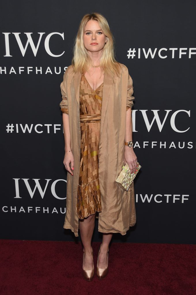 Actress Alice Eve attends the exclusive gala event 'For the Love of Cinema' during the Tribeca Film Festival hosted by luxury watch manufacturer IWC Schaffhausen on April 20, 2017 in New York City.  (Photo by Jamie McCarthy/Getty Images for IWC)
