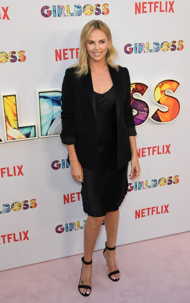 Charlize Theron arrives for the premiere of Netflix's 'Girlboss' at ArcLight Cinemas in Hollywood, California on April 17, 2017.   (Photo by MARK RALSTON/AFP/Getty Images)