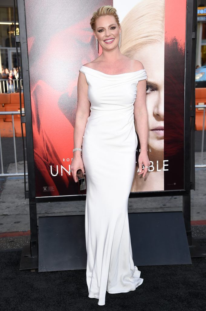 "Katherine Heigl attends the premiere of the dramatic thriller ""Unforgettable"" at the TCL Chinese Theater in Hollywood, California, on April 18, 2017. (Photo by RICHARD SHOTWELL/AFP/Getty Images)"