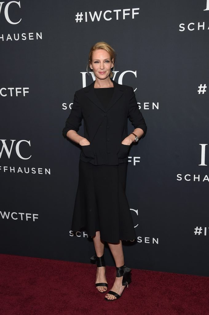 Actress Uma Thurman attends the exclusive gala event 'For the Love of Cinema' during the Tribeca Film Festival hosted by luxury watch manufacturer IWC Schaffhausen on April 20, 2017 in New York City.  (Photo by Jamie McCarthy/Getty Images for IWC)