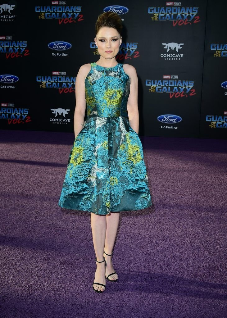 "Actress Claire Grant arrives for the world premiere of the film ""Guardians of the Galaxy Vol. 2"" in Hollywood, California on April 19, 2017.  (Photo by FREDERIC J. BROWN/AFP/Getty Images)"