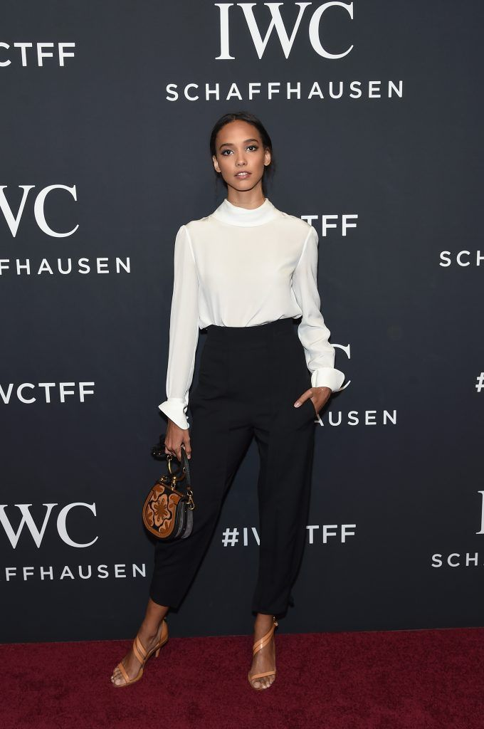 Cora Emmanuel attends the exclusive gala event 'For the Love of Cinema' during the Tribeca Film Festival hosted by luxury watch manufacturer IWC Schaffhausen on April 20, 2017 in New York City.  (Photo by Jamie McCarthy/Getty Images for IWC)