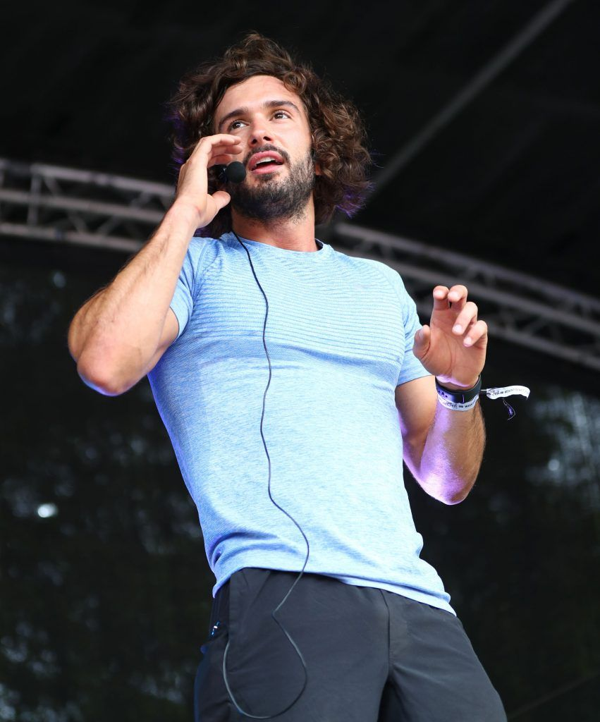 The Body Coach Joe Wicks on stage as over 5,000 people descended on Dublin's Herbert park for WellFest, Ireland's only health, wellness and fitness festival. Pic: Marc O'Sullivan