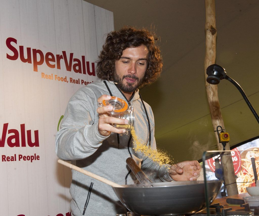 Body Coach, Joe Wicks pictured at SuperValu's WellFood zone where he was showcasing his culinary skills at WellFest in Dublin's Herbert Park. Pic by Patrick O'Leary
